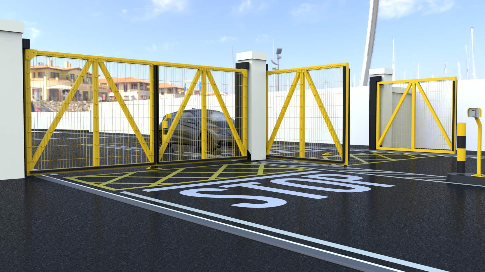 Electric automatic swing gates expert security uk